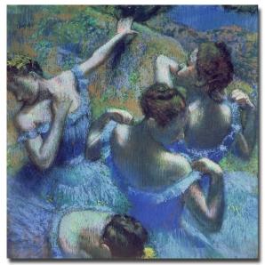 Ballerina in blauw degas